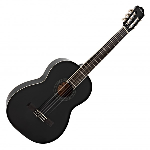 Deluxe Classical Guitar, Black, by Gear4music