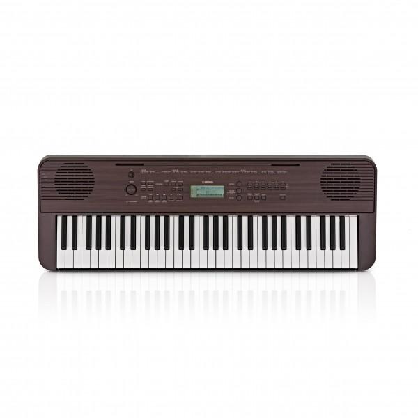 Yamaha PSR E360 Portable Keyboard, Dark Walnut