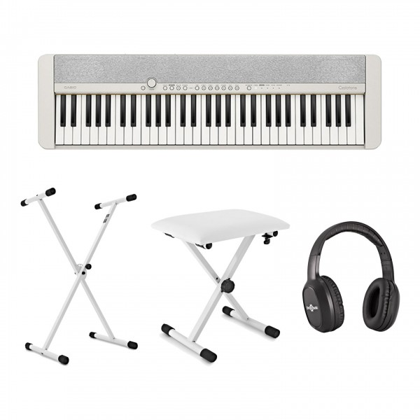 Casio CT-S1 Portable Keyboard Package, White