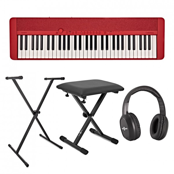 Casio CT-S1 Portable Keyboard Package, Red