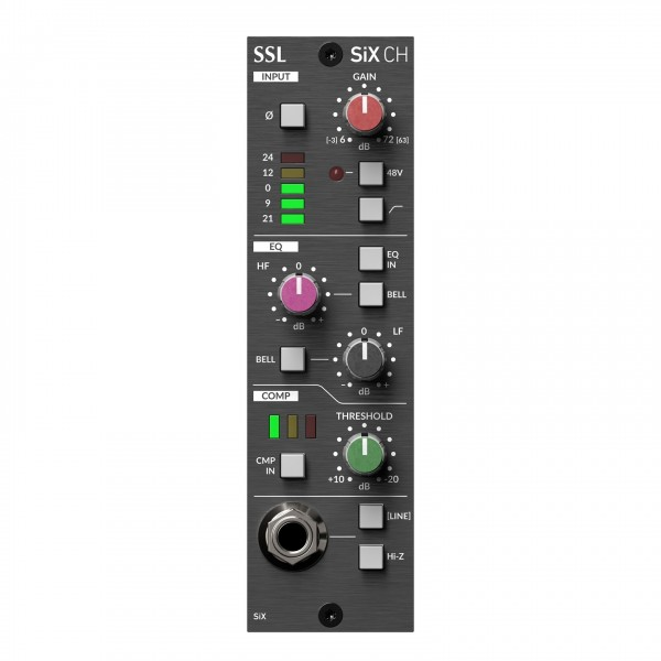 Solid State Logic SiX 500 Series Channel Strip - Front
