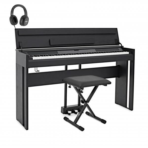 DP-12 Digital Piano by Gear4music + Accessory Pack, Matte Black