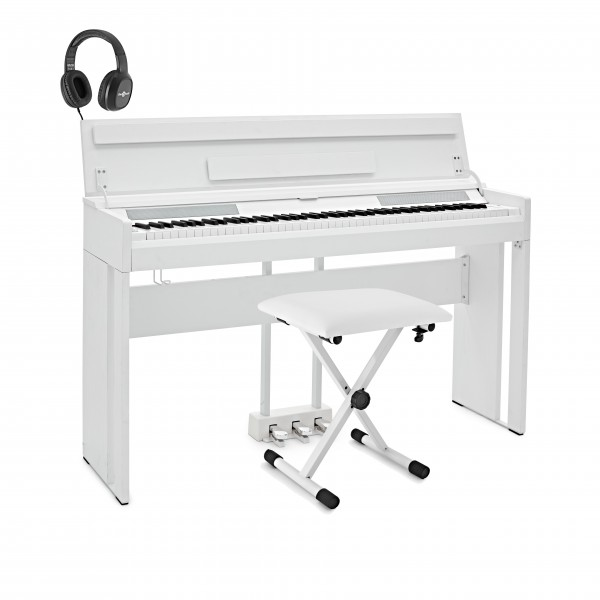 DP-12 Digital Piano by Gear4music + Accessory Pack, White