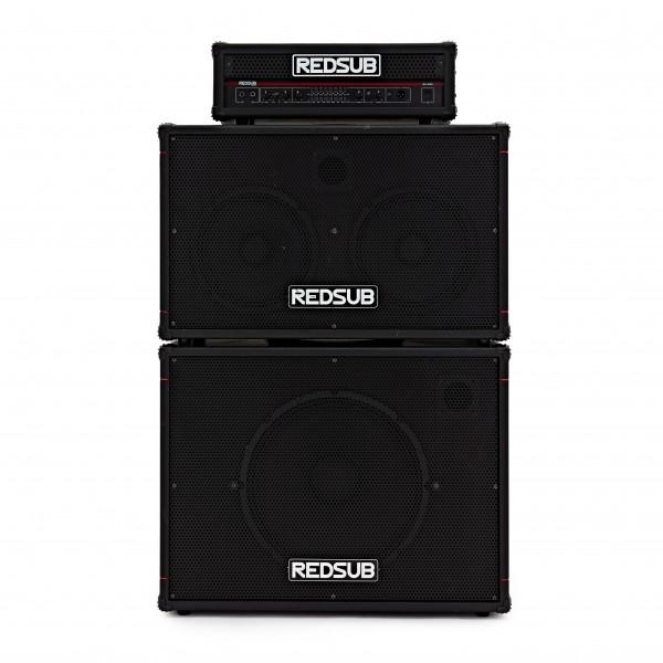 """Redsub 300W Amp Head + 1 x 15"""" + 2 x 10"""" Full Stack"""