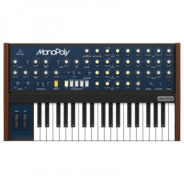 Behringer MonoPoly Analog 4-Voice Polyphonic Synthesizer - Top View