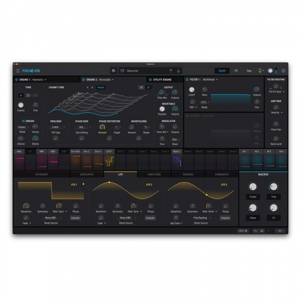Arturia Pigments Wavetable Software Synthesizer, Digital Delivery - Wavetable