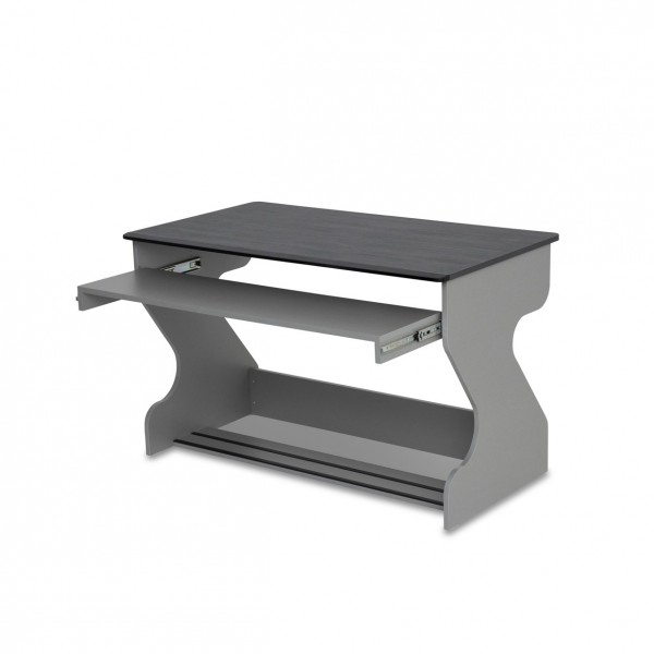 Zaor MIZA Junior Flex Studio Desk, Grey Wengé