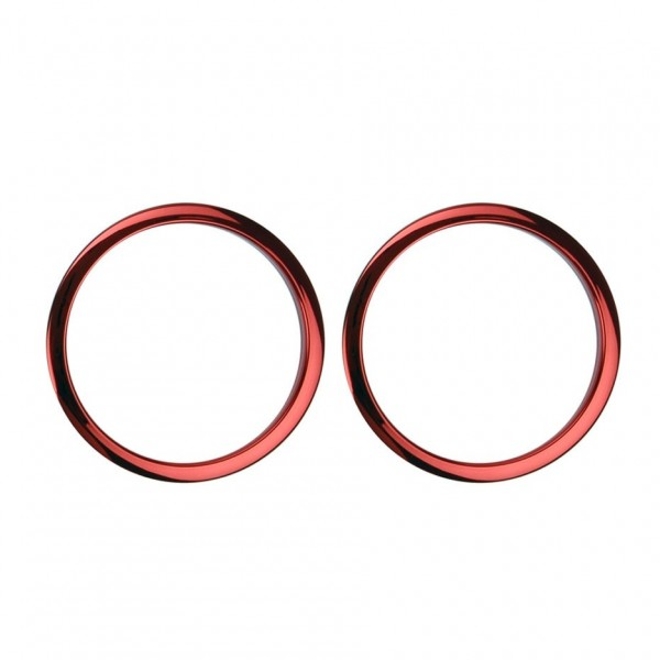 "Bass Drum O's 2"" Sound Hole Rings, Red"