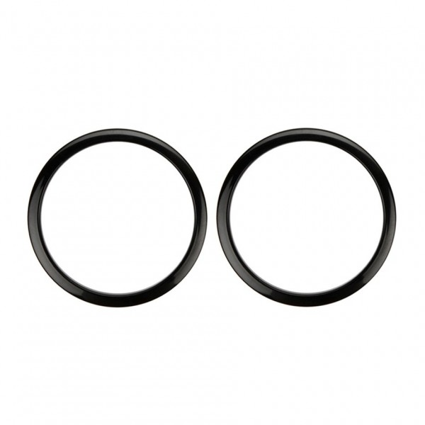 "Bass Drum O's 2"" Sound Hole Rings, Black"