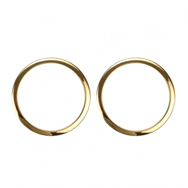 """Bass Drum O's 2"""" Sound Hole Rings, Brass"""