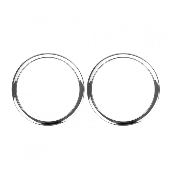 "Bass Drum O's 2"" Sound Hole Rings, Chrome"