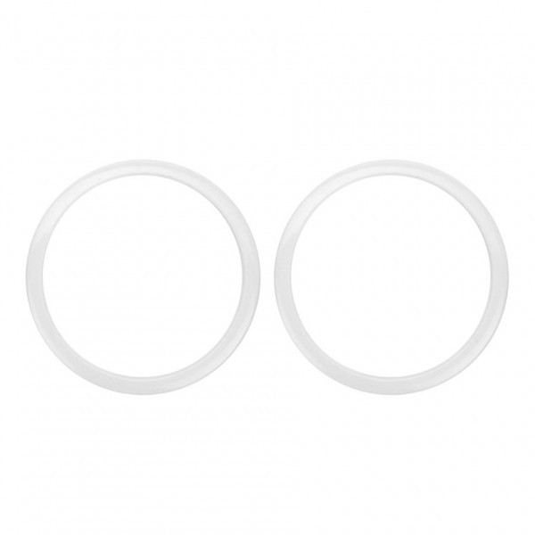 """Bass Drum O's 2"""" Sound Hole Rings, White"""