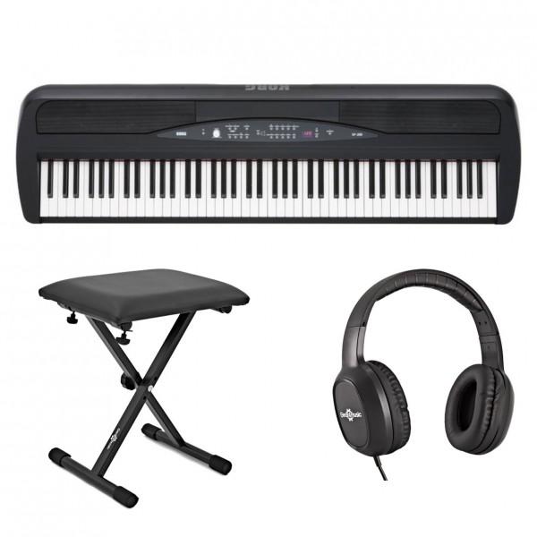 Korg SP-280 Digital Stage Piano Package, Black