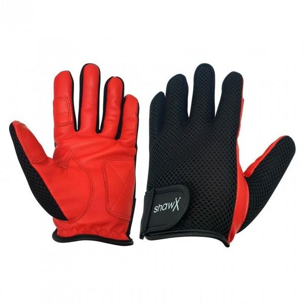 Shaw Fullfinger Medium Drum Gloves, Red