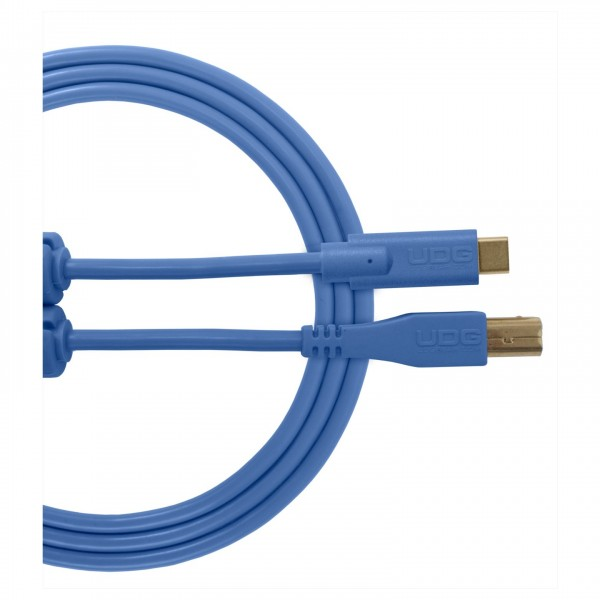 UDG Cable USB 2.0 (Type C-B) Straight 1.5M Blue