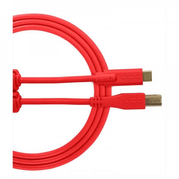 UDG Cable USB 2.0 (Type C-B) Straight 1.5M Red