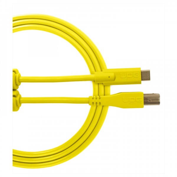 UDG Cable USB 2.0 (Type C-B) Straight 1.5M Yellow
