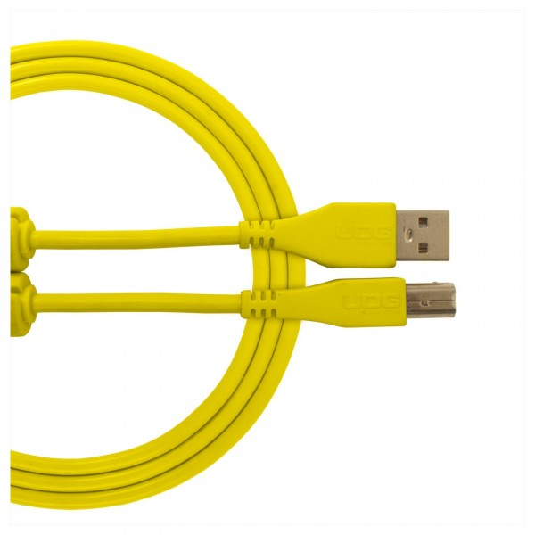 UDG Cable USB 2.0 (A-B) Straight 3M Yellow 1