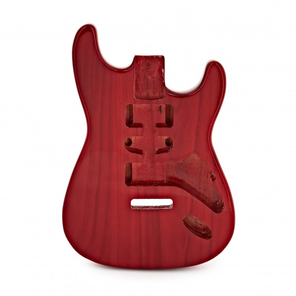 Electric Guitar Body, Transparent Red
