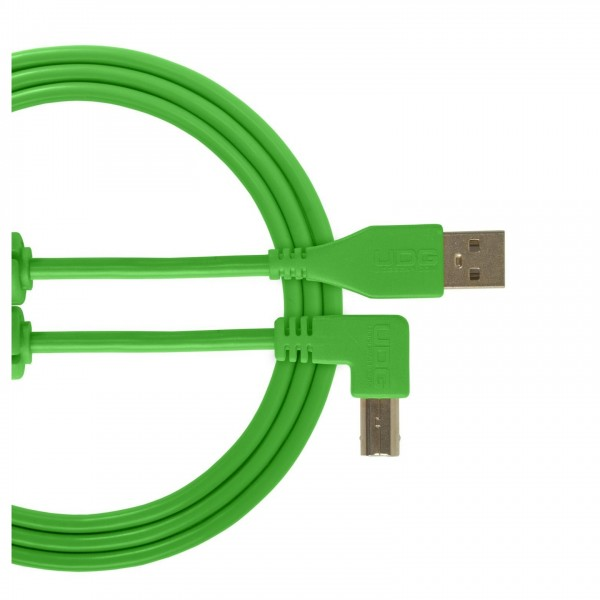 UDG Cable USB 2.0 (A-B) Angled 1M Green - Main