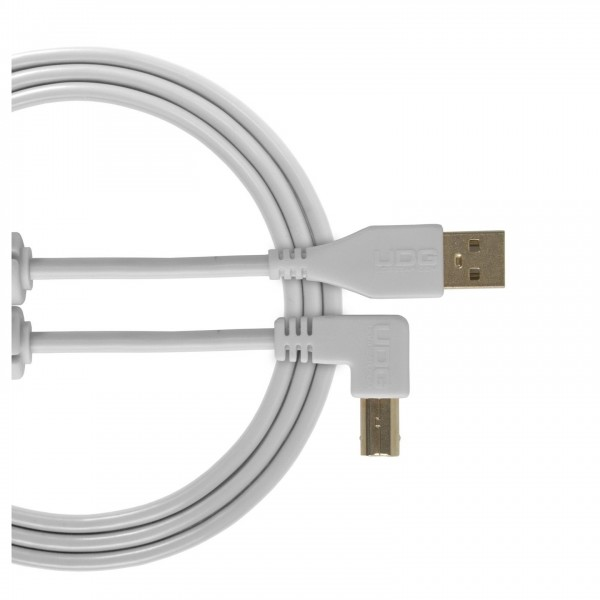 UDG Cable USB 2.0 (A-B) Angled 1M White - Main