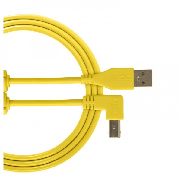 UDG Cable USB 2.0 (A-B) Angled 1M Yellow - Main