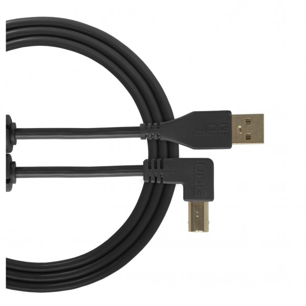 UDG Cable USB 2.0 (A-B) Angled 2M Black - Main