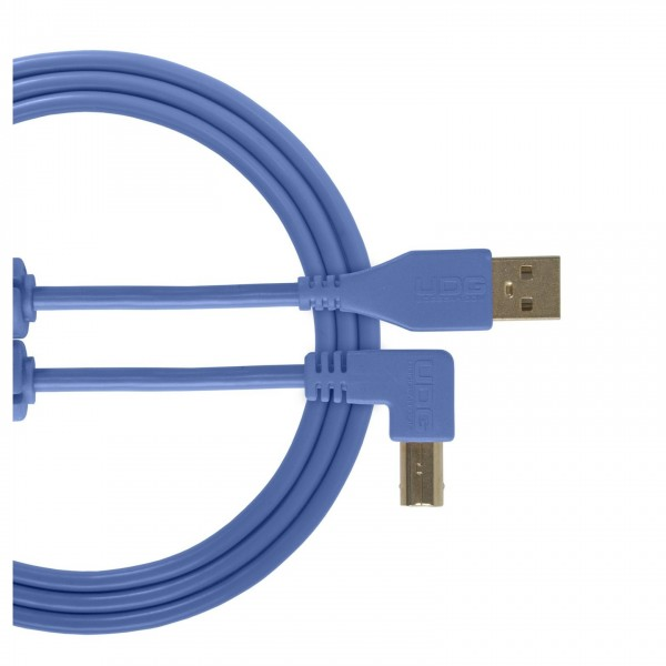 UDG Cable USB 2.0 (A-B) Angled 2M Blue - Main