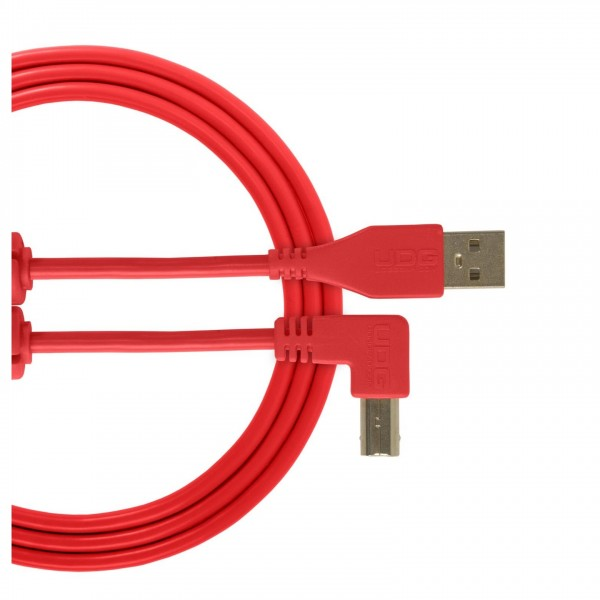 UDG Cable USB 2.0 (A-B) Angled 3M Red - Main