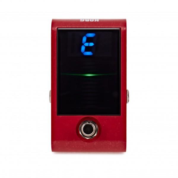 Korg Pitchblack Custom Pedal Tuner, Red