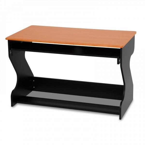 Zaor MIZA Junior Flex Studio Desk, Black Cherry - Angled