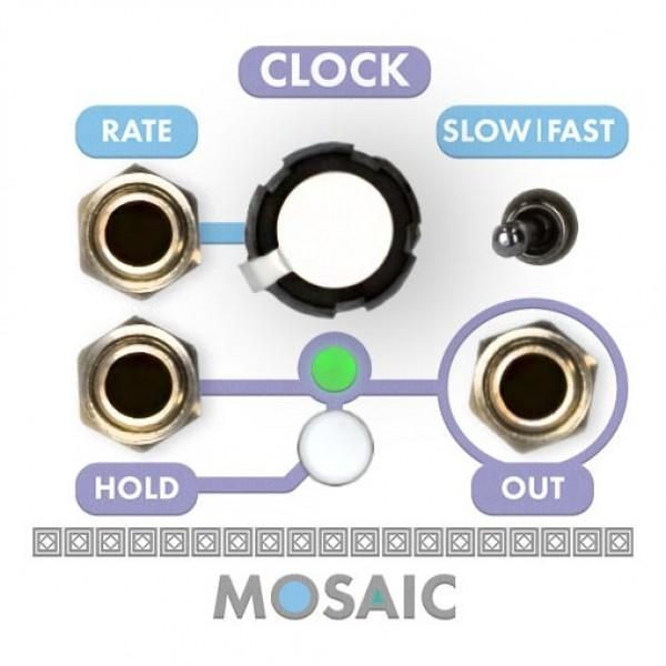 Mosaic 1U Clock Module, White
