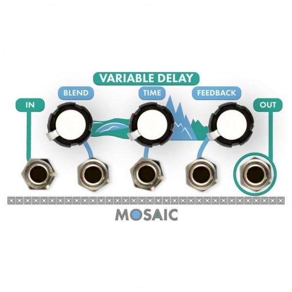 Mosaic 1U Variable Delay Module, White