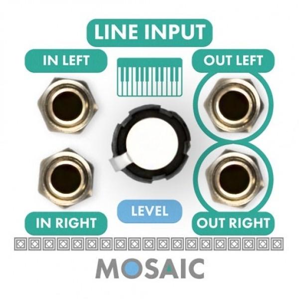 Mosaic 1U Line Input Module, White