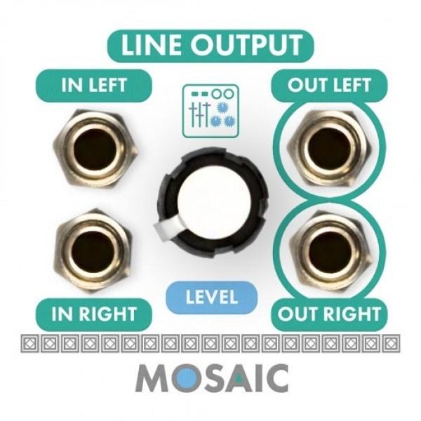 Mosaic 1U Line Output Module, White