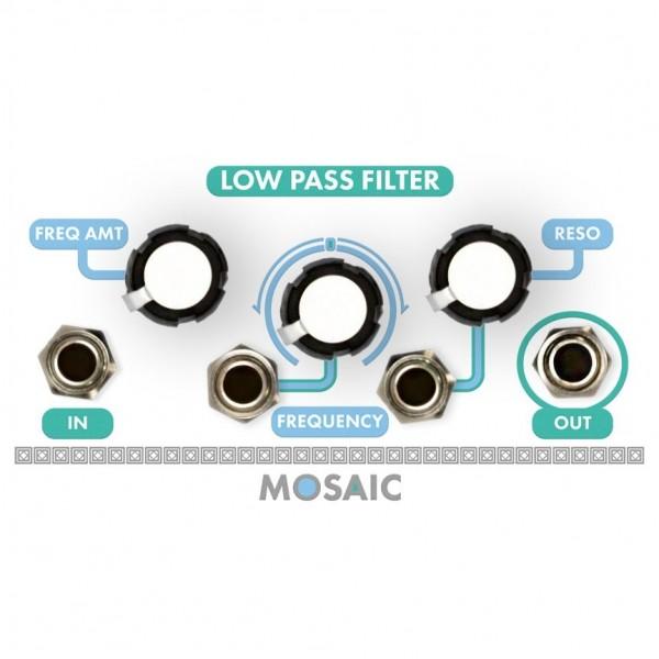 Mosaic 1U Low Pass Filter, White