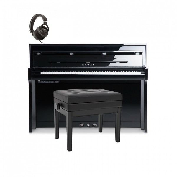 Kawai Novus NV5S Hybrid Digital Piano Package, Polished Ebony