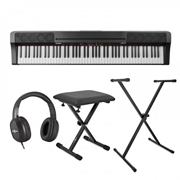 Alesis Prestige Digital Piano, Black Inc. Stand, Bench and Headphones