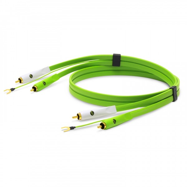 Neo d+ RCA Turntable Class B 2M, Green - Coiled