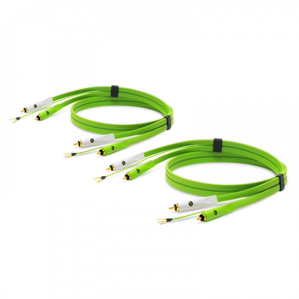 Neo d+ RCA Turntable Class B DUO (X2) 1M Green - Coiled