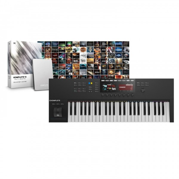 Native Instruments S49 MK2 with Komplete 13 Collectors Edition - Top