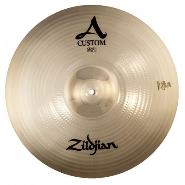 Zildjian A Custom 18'' Crash Cymbal, Brilliant Finish