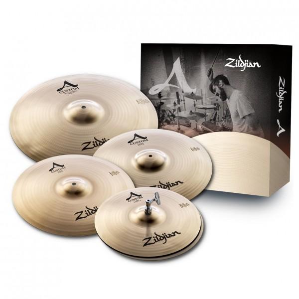 Zildjian A Custom Cymbal Box Set with Free 18'' A Custom Crash