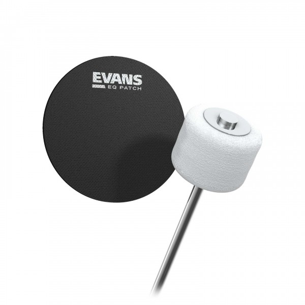 Evans Cordura Single EQ Black Nylon Patch, Pack of 2