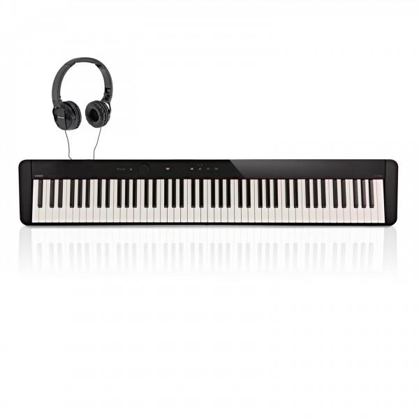 Casio PX S1000 Digital Piano with Pioneer Headphones, Black