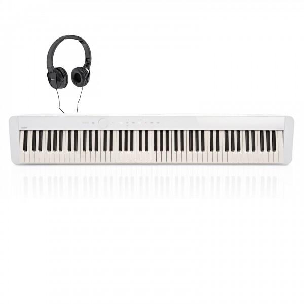 Casio PX S1000 Digital Piano with Pioneer Headphones, White