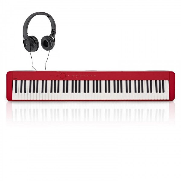 Casio PX S1000 Digital Piano with Pioneer Headphones, Red
