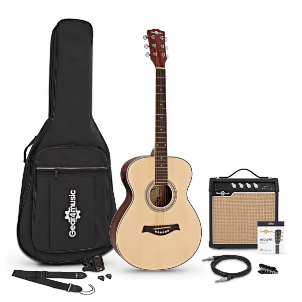 Student Electro Acoustic Guitar + 15W Amp Pack