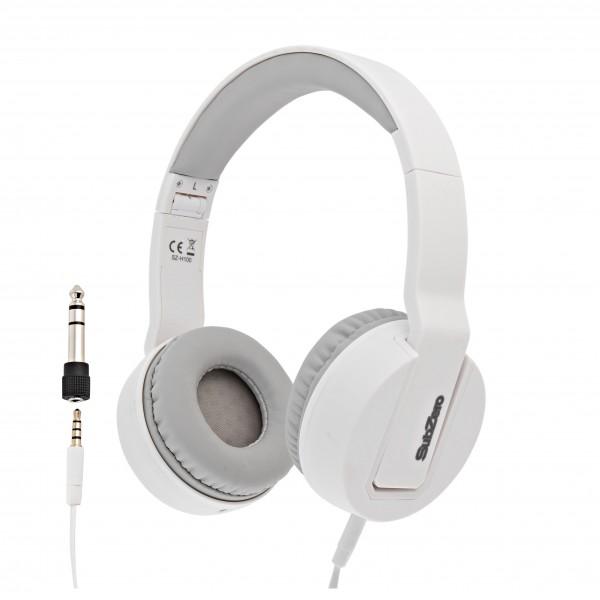 SubZero SZ-H100 Stereo Headphones, White