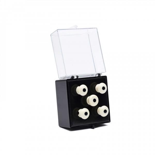 Martin Bridge Pins Bass Set of 4, White w/ Black Dot